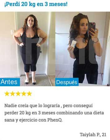 PhenQ antes y después de las fotos